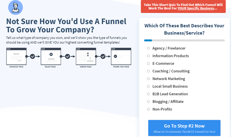 ClickFunnels-funnel by business type