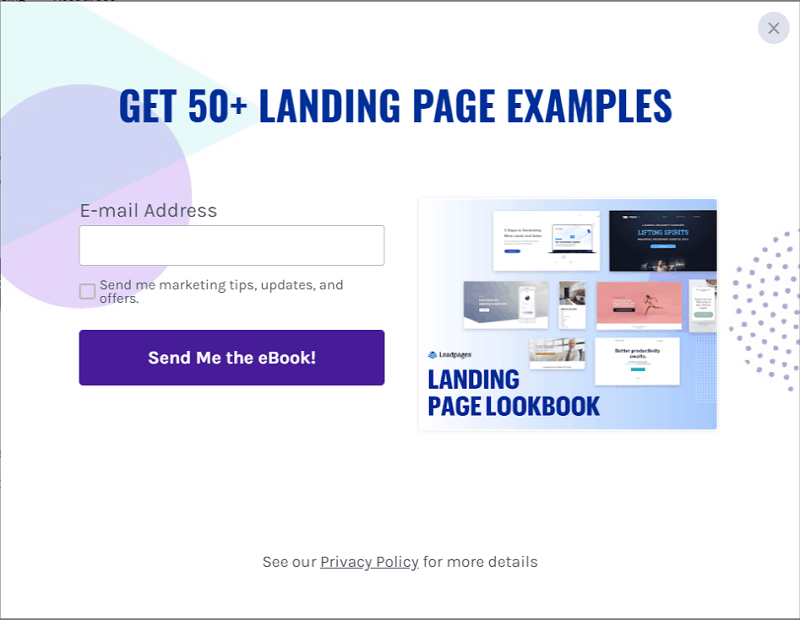 Leadpages pop up